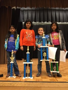 The 2014 Champion Girls from Mission San Jose Elementary School Chess Team.