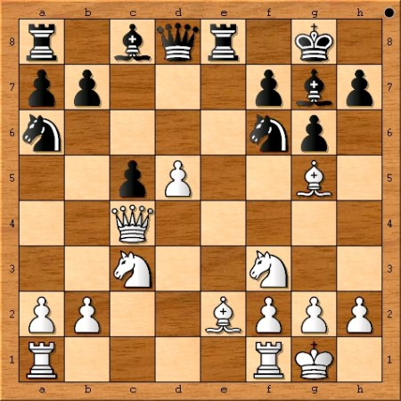 Position after Viswanathan Anand plays 12. Bg5.
