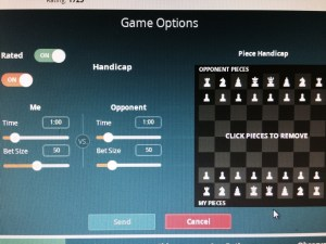 "Setting up ""at odds"" chess games on Velocity Chess is easy."
