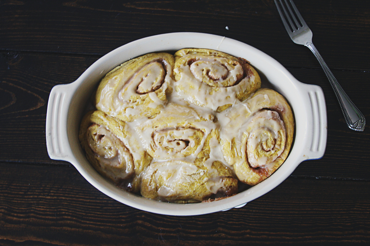 Pumpkin Maple Cinnamon Rolls