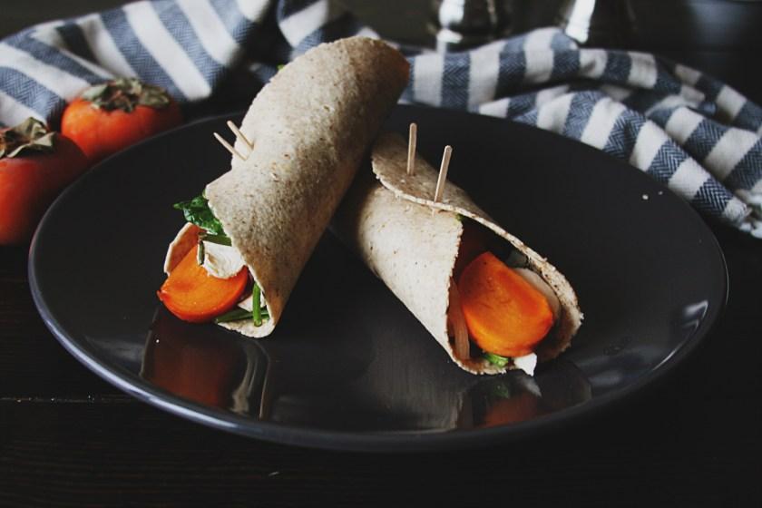 persimmon-chicken-salad-wrap