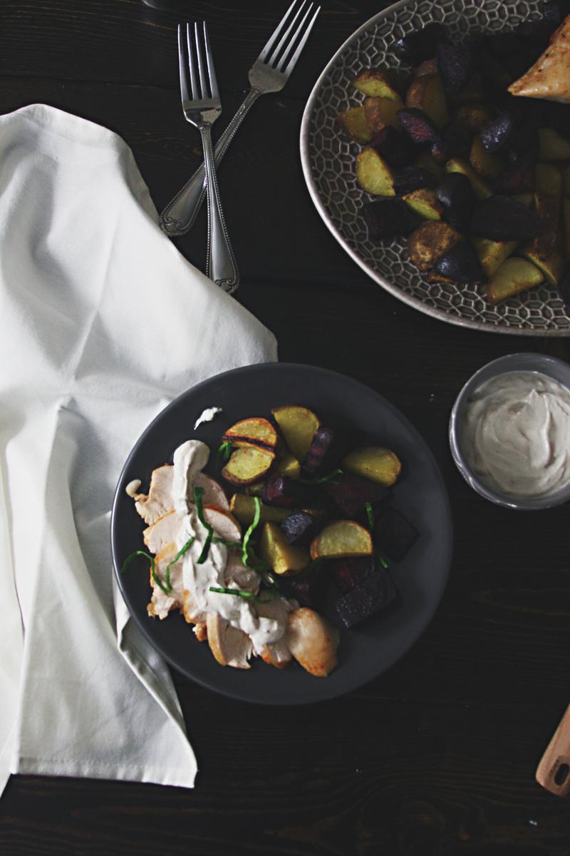 chicken-beets-potatoes-tahini-yogurt-sauce-4