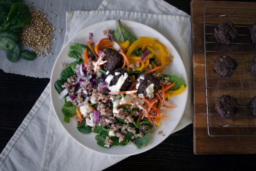 venison-kofta-meatballs-salad