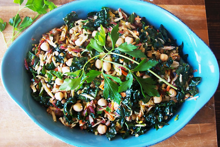 lentil-kale-rainbow-carrot-salad-7