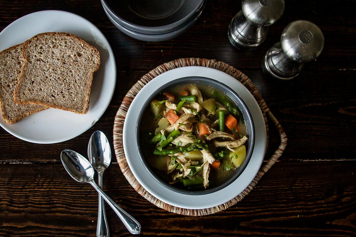 Spring Chicken Pot Pie Soup – Dairy Free