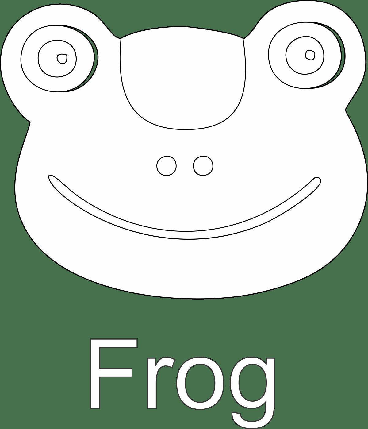 green frog face art