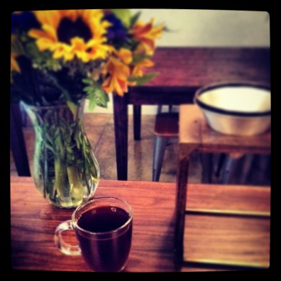 pour over coffee at new Grumpy cafe
