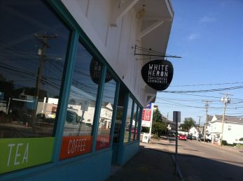 white heron opens cafe in Portsmouth