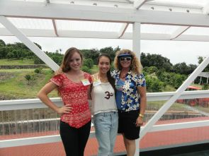 Arianna Farms 'Ono Kona Coffee co-owner Sharon Wood (right) and her daughter, Arianna (left), pictured with Arianna's childhood friend Amy.