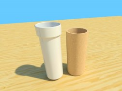 The Cortica travel coffee mug cork and porcelain