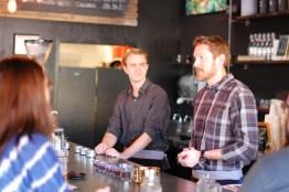 A pourover class at Peixoto Coffee