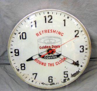 Golden Dawn Coffee clock