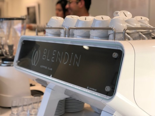 Custom Sanremo Opera espresso machine. Photo courtesy of BlendIn Coffee Club.
