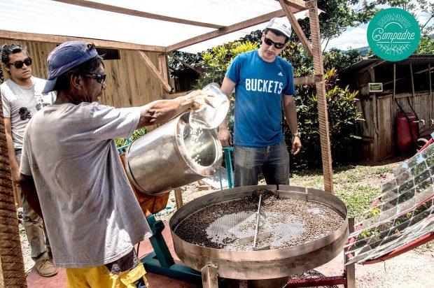 solar hybrid coffee roaster lima peru farmers