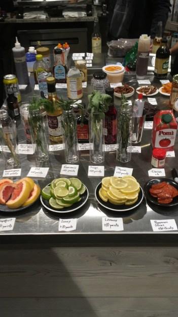 Ingredients for signature beverage.