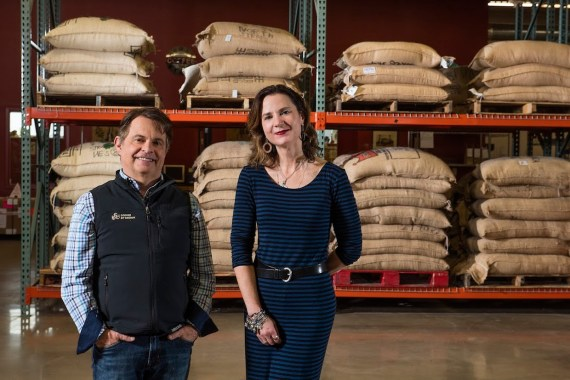 Coffee By Design owners Mary Allen Lindemann and Alan Spear.