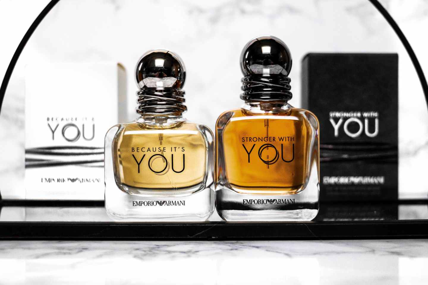 ARMANI BECAUSE OF YOU & STRONGER WITH YOU