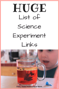 Huge List of Science Experiment Links