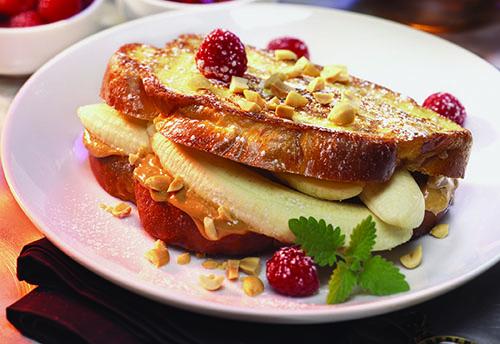 Elvis Breakfast - Grilled PB, Bananas and Butter Sandwich