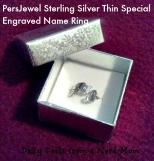 Engraved Ring from PersJewel Review