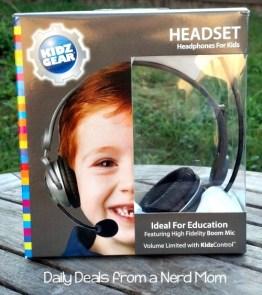 Kidz Gear Deluxe Stereo Headset Headphones with Boom Microphone