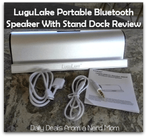LuguLake Portable Bluetooth Speaker With Stand Dock Review
