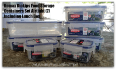 Komax Biokips Food Storage Containers Set Airtight (7) Including Lunch Box