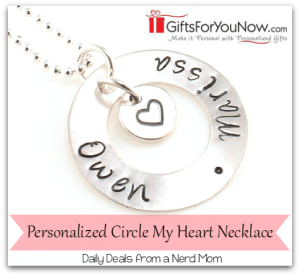 Personalized Circle My Heart Necklace from GiftsForYouNow.com