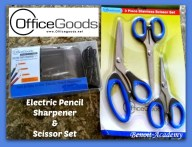 OfficeGoods Electric Pencil Sharpener and Scissor Set