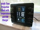 Intelli-Time Projection Clock with Temperature and USB Charger