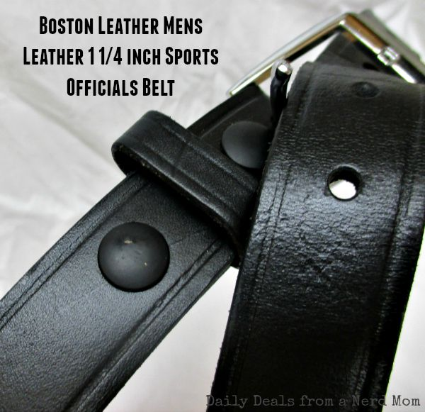 Boston Leather Mens Leather 1 1/4 inch Sports Officials Belt