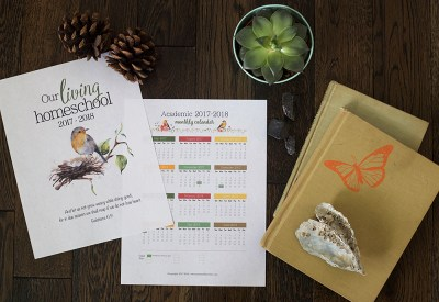 3 page FREE Charlotte Mason Inspired planner