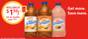 Make Time for Snapple – Only $1.50 on Rollback at Walmart!