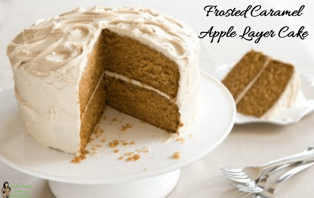 Frosted Caramel Apple Cake