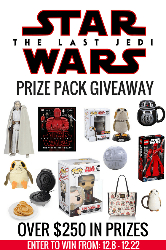 The Star Wars: The Last Jedi Prize Pack Giveaway {US, 12/22/17}
