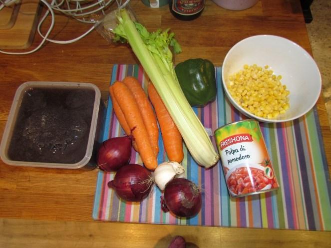 Black Bean Chili Ingredients