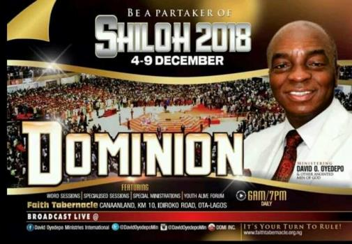 Watch Live Broadcast Shiloh 2018 December 4 Dominion - Day 1
