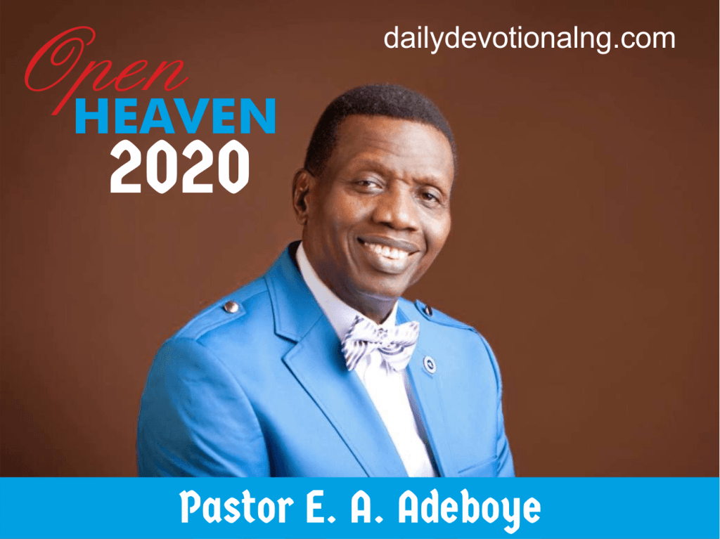 Open Heaven 31st May 2020 Daily Devotional, Open Heaven 31st May 2020 Daily Devotional – Don't Lose Confidence In Christ