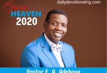 Open Heaven 5th December 2020 Devotional, Open Heaven 5th December 2020 Devotional – God Bless You