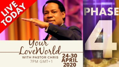 Photo of Pastor Chris: Your LoveWorld April 30th 2020 Phase 4 LIVE