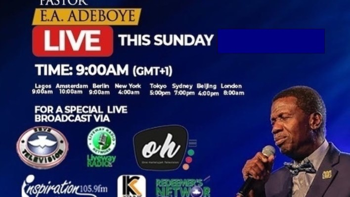 RCCG Sunday 2nd May 2021 Live Service with Pastor E. A. Adeboye