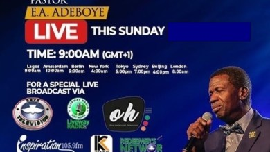 RCCG Sunday 9th May 2021 Live Service with Pastor E. A. Adeboye