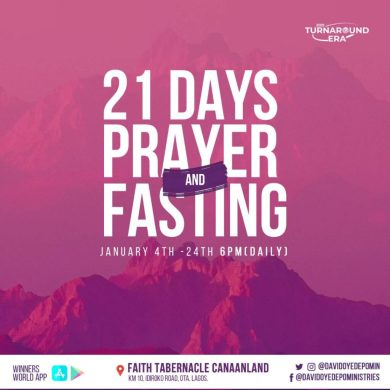 Winners Chapel 21 Days Fasting And Prayer 22nd January 2021 Points Day 19