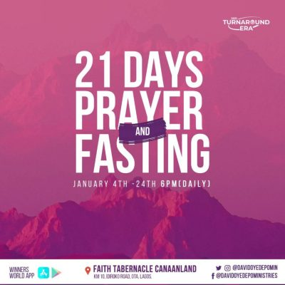 Winners Chapel 21 Days Fasting And Prayer 23rd January 2021 Points Day 20