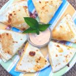 Spicy Ranch Bacon Avocado Quesadilla #SundaySupper