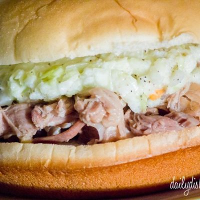 Paula Deen's Slow Cooker Pulled Pickled Pork Sandwiches #SundaySupper