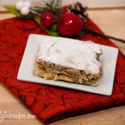 Spiced Gingerbread Gooey Butter Cake | A Twist on a Favorite | #SundaySupper