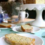 Olive Oil Citrus Poppyseed Loaf with Citrus Vanilla Glaze