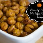 Crunchy Pumpkin Pie Spice Roasted Chickpeas #SundaySupper