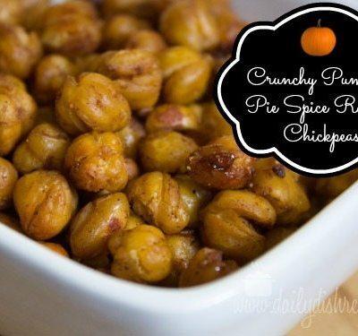 Crunchy Pumpkin Pie Spice Roasted Chickpeas #SundaySupper